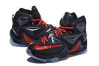 Мужские баскетбольные кроссовки Nike Lebron 13 (Black\Red), фото 1
