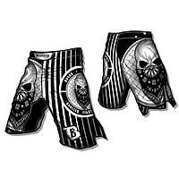 Шорты MMA Booster Skull PRO 22 Черно-белые Таиланд