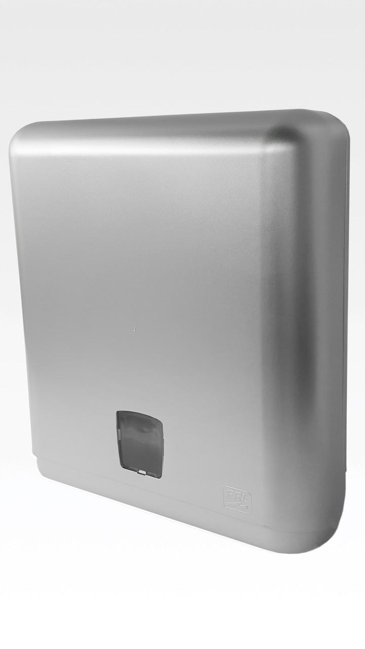 Диспенсер для листовых бумажных полотенец АБС пластик, 1096 серый металлик