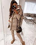 Жіночий спортивний костюм трійка з жилеткою 42-44, 46-48, корал, оливка, пудра, бежевий, чорний, фото 10