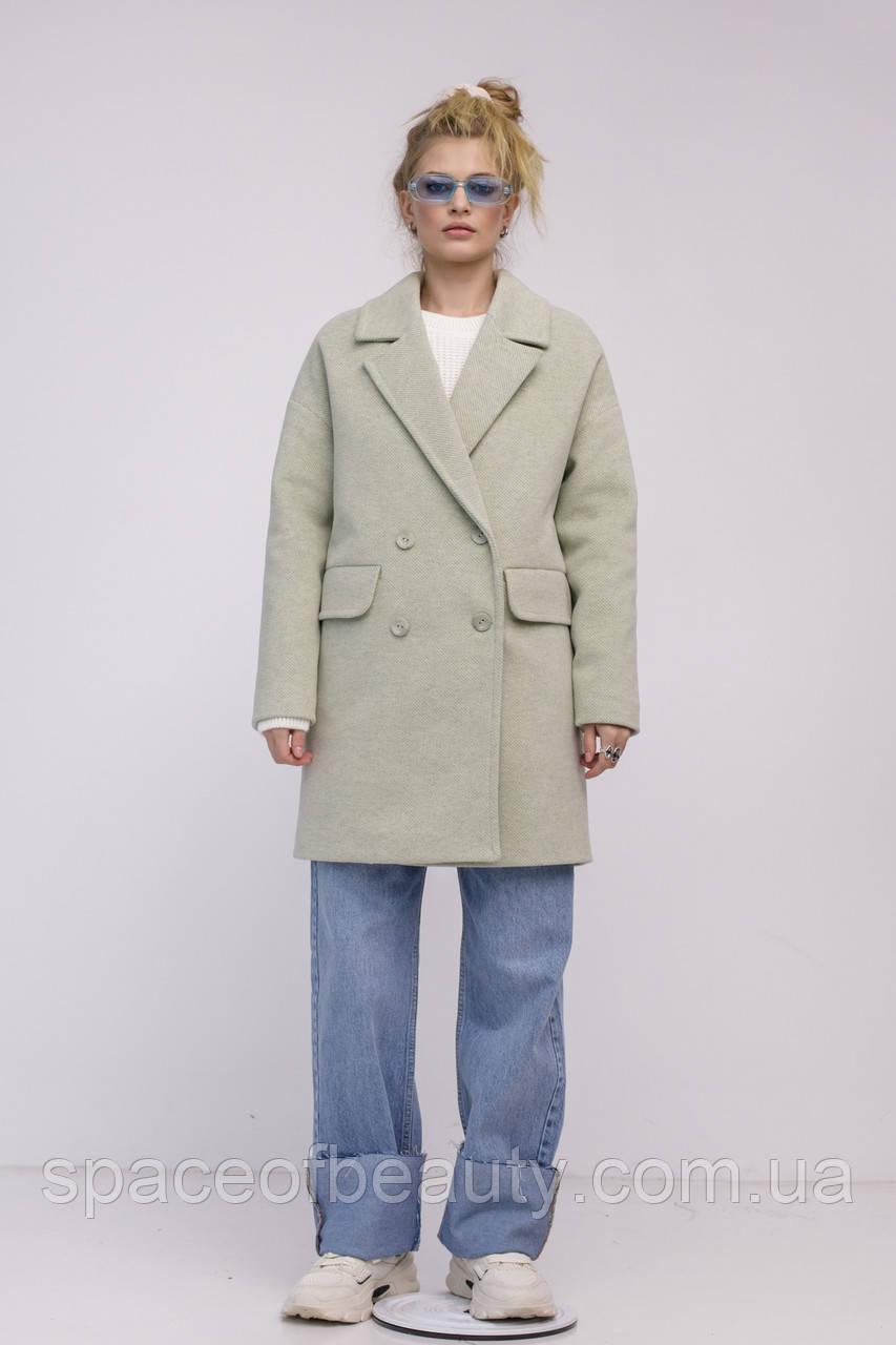 Женское пальто Stimma Анекс 8406 Xs Серо-Мятная Диагональ