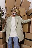 Женское пальто Stimma Анекс 8406 Xs Серо-Мятная Диагональ, фото 2