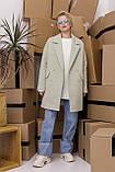 Женское пальто Stimma Анекс 8406 Xs Серо-Мятная Диагональ, фото 4
