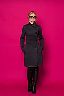 Стильный весенний кардиган-пальто дизайнерского кроя на пуговицах