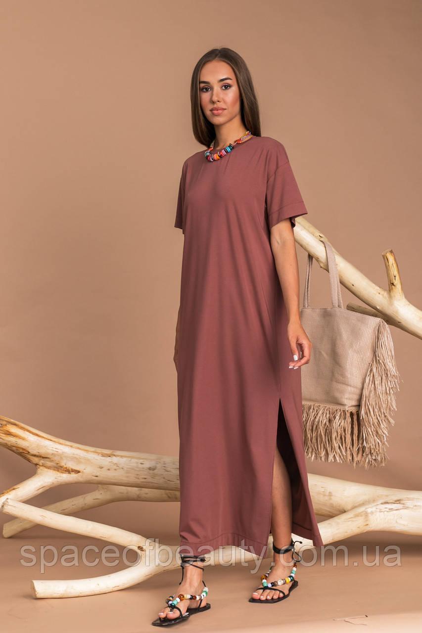 Жіноче плаття Stimma Шарлотта 7583 M Шоколадний