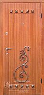 Дверь уличная с декором и ковкой ТМ Абвер модель Kalista код: 48