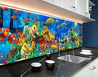 Скинали з фотозображенням водний світ, рибки, акваріум, море ПВХ панель 62 х 205 см (an163-5)
