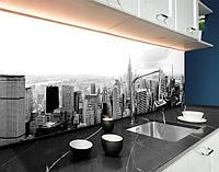 Кухонний фартух Чорно-білі хмарочоси, ч/б місто, архітектура ПВХ панель 62 х 205 см (cd144-5)