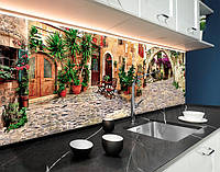 Кухонні фартухи мощені вулиці провансу, Італія, архітектура ПВХ панель 62 х 205 см (cd146-5)