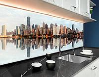 Кухонний фартух Манхеттен, місто вдень, міст, архітектура ПВХ панель 62 х 205 см (cd147-5)