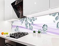 Стінова панель з фотодруком алмази, діаманти на шовку, коштовності на самоклеючій плівці або ПВХ панель