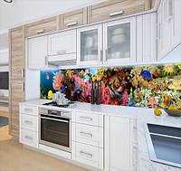Скинали на кухню з плівки з морськими глибинами, із захисною ламінацією 65 х 300 см