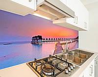 Скинали на кухню з плівки вініловойдомікі на воді, із захисною ламінацією 65 х 300 см