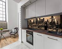 Кухонний фартух вініловий бруклінський міст в променях вогнів, із захисною ламінацією 65 х 300 см