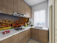 Кухонний фартух на вініловій плівці вогні нічних мостів, з захисною ламінацією 60 х 250 см