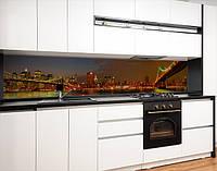 Кухонний фартух самоклею вогні нічних мостів, з захисною ламінацією 65х250 см