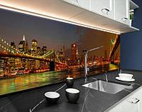 Наклейка на кухонний фартух вогні нічних мостів, з захисною ламінацією 65 х 300 см