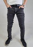 Крутые зауженные модные джинсы мужские классические черные Джинсы для парней S,M, L, XL 32,33,34,36,38,40,42