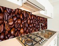 Скинали на кухню з плівки кавові зерна, із захисною ламінацією, 60 х 200 см.
