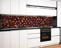 Кухонний фартух самоклею кавові зерна, із захисною ламінацією 60 х 300 см