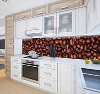 Наклейка вінілова на кухонний фартух кавові зерна, із захисною ламінацією 65 х 300 см