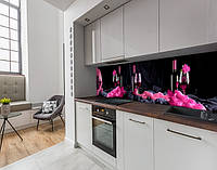 Наклейка вінілова на кухонний фартух келих з вином, із захисною ламінацією, 60 х 200 см.
