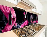 Наклейка на кухонний фартух келих з вином, із захисною ламінацією 60 х 250 см