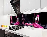 Вінілова наклейка на кухонний фартух келих з вином, із захисною ламінацією 65х250 см
