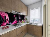 Вінілова скіналі на кухонний фартух келих з вином, із захисною ламінацією 60 х 300 см