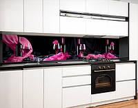 Кухонний фартух вініловий келих з вином, із захисною ламінацією 65 х 300 см