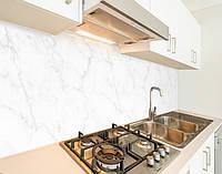 Наклейка на кухонный фартук мрамор светлый, с защитной ламинацией, 60 х 200 см.