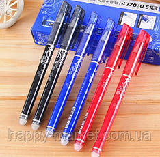 Ручка стирається гель АН47200 синя пише-гумка стирає від запалив зникає /12уп,144бл,1728ящ