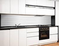 Скинали на кухню з плівки 3д хвилі під гіпс, із захисною ламінацією, 60 х 200 см.