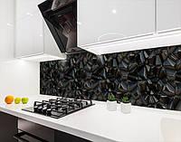 Скинали на кухню з плівки текстура з 3д камінням, із захисною ламінацією, 60 х 200 см.