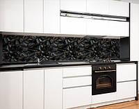 Кухонний фартух на вініловій плівці текстура з 3д камінням, із захисною ламінацією 65х250 см