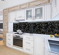 Кухонний фартух самоклею текстура з 3д камінням, із захисною ламінацією 60 х 300 см