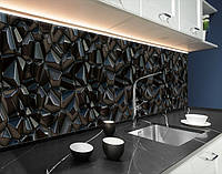 Вініловий кухонний фартух текстура з 3д камінням, із захисною ламінацією 65 х 300 см