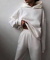 Женский объемный спортивный костюм на флисе с капюшоном, фото 6