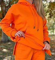 Женский утепленный спортивный костюм на флисе с удлиненной кофтой (Норма и батал), фото 4