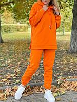 Женский утепленный спортивный костюм на флисе с удлиненной кофтой (Норма и батал), фото 5