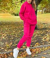 Женский утепленный спортивный костюм на флисе с удлиненной кофтой (Норма и батал), фото 9