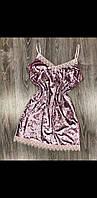 Красивый велюровый пеньюар с цветочным кружевом . Женская домашняя одежда.