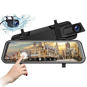 Автомобільний відеореєстратор дзеркало дисплей DVR L9100, Авто двокамерний реєстратор у машину Full HD 1080p