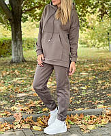 Жіночий утеплений спортивний костюм на флісі з подовженою кофтою (Норма і батал), фото 2