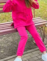 Жіночий утеплений спортивний костюм на флісі з подовженою кофтою (Норма і батал), фото 4