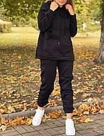 Жіночий утеплений спортивний костюм на флісі з подовженою кофтою (Норма і батал), фото 8