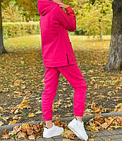 Жіночий утеплений спортивний костюм на флісі з подовженою кофтою (Норма і батал), фото 10