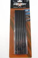 Стержни клеевые черные 11/250 мм, 12 шт., 300 г, , Rexxer, RB-02-023