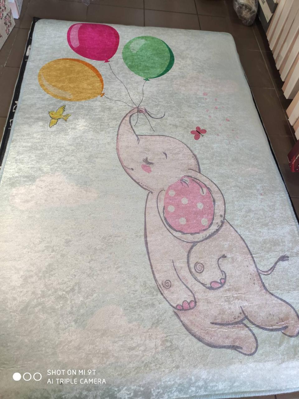 Коврик для детской комнаты  Chilai Home 100 на 160 см Слоник