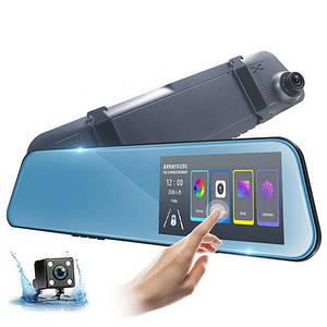 Автомобільний відеореєстратор дзеркало дисплей DVR 1031, Авто двокамерний реєстратор у машину Full HD 1080p